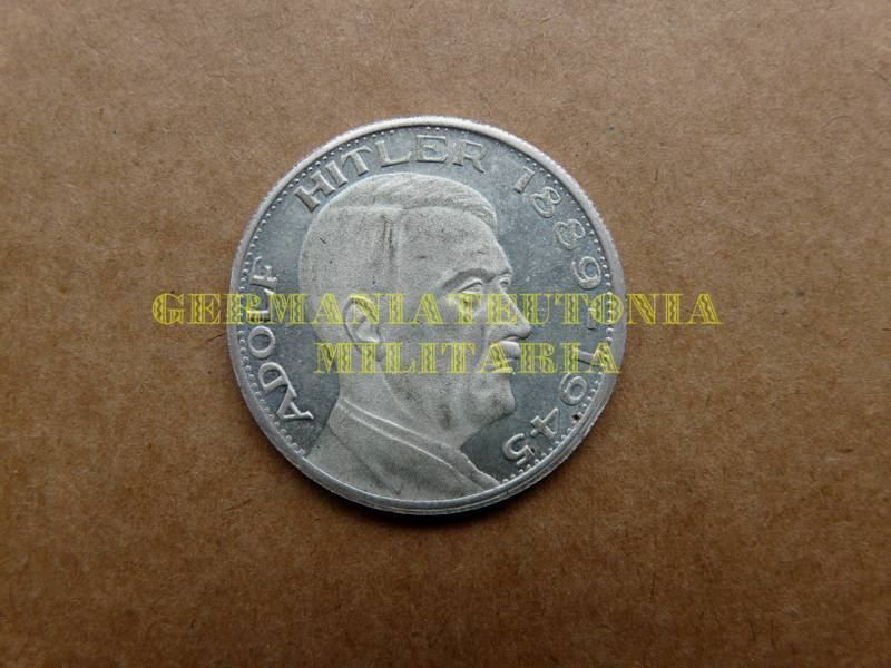 Plakette Münze Medaille Adolf Hitler 1889 1945 2 Germaniateutonia