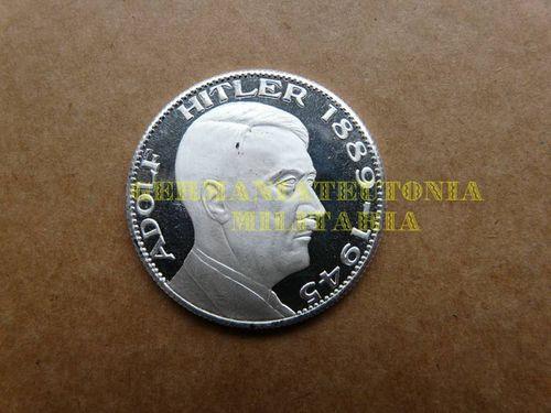 Plakette Münze Medaille Adolf Hitler 1889 1945 3 Germaniateutonia
